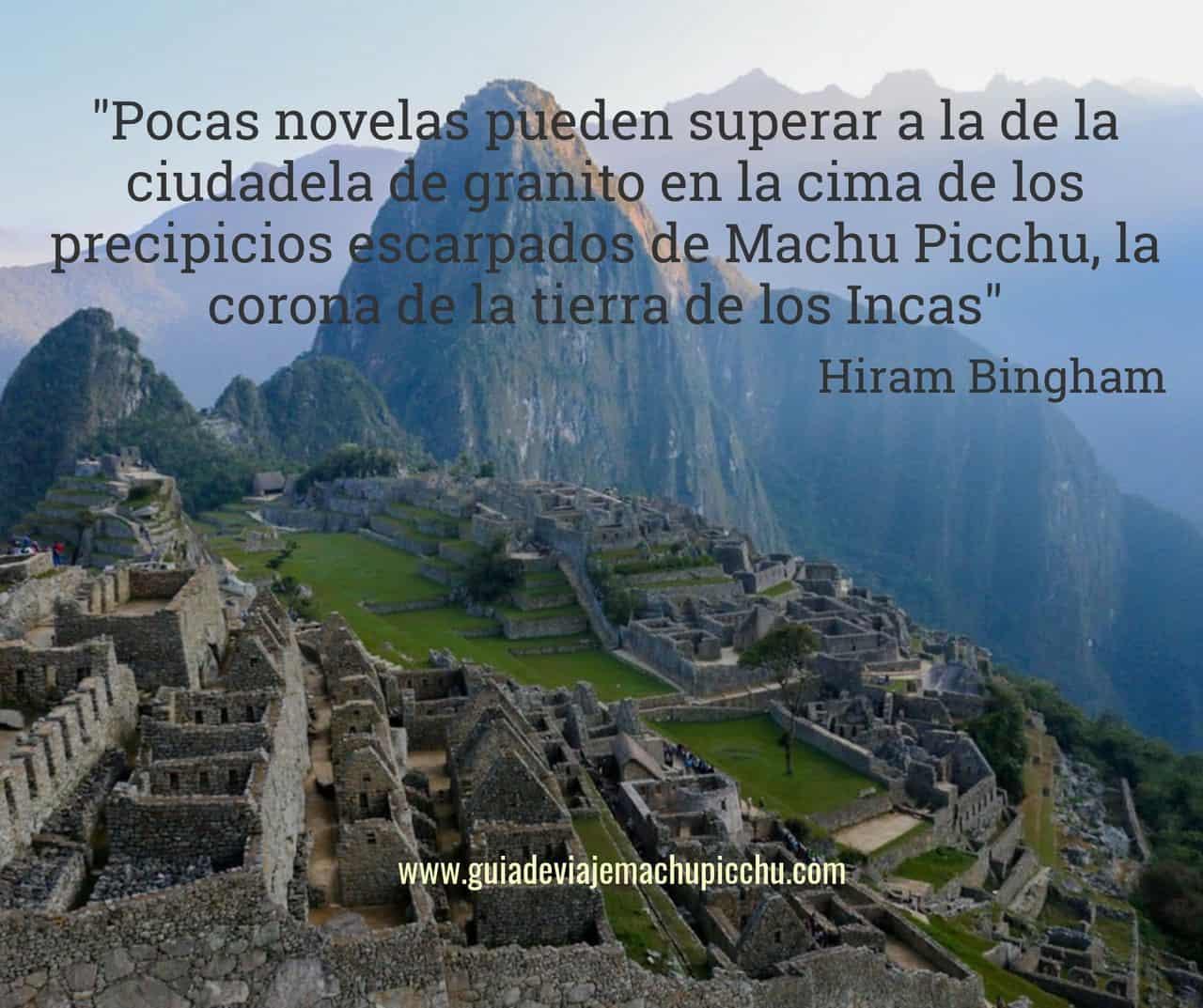 Frases sobre Machu Picchu