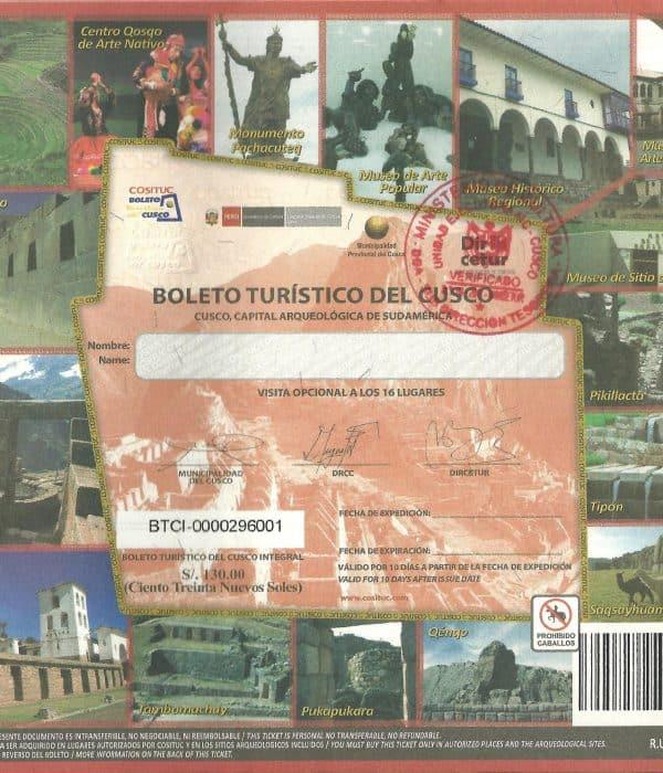 <span class='p-name'>Que es el boleto turístico de Cusco.</span>
