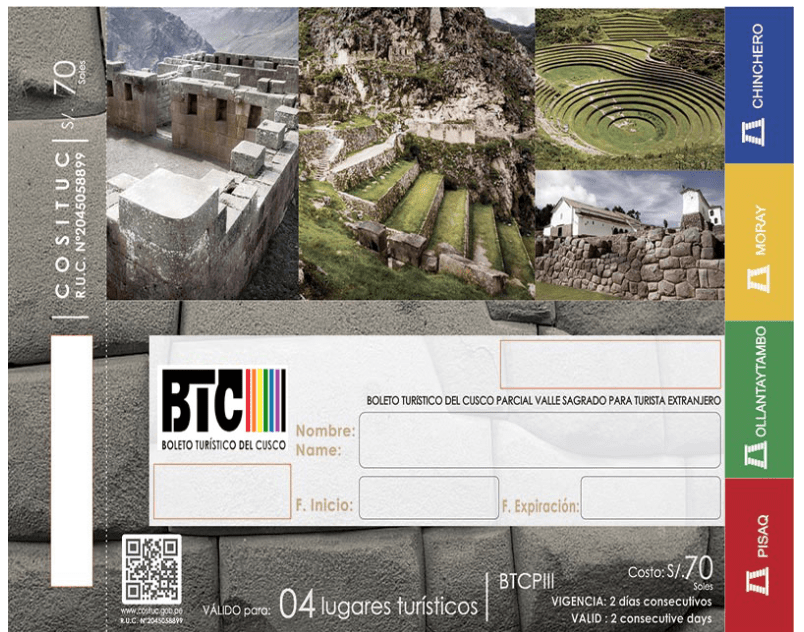 Circuito III, Boleto Turistico Parcial de Cusco