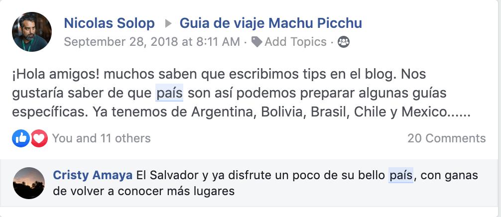 Guia de viaje a Machu Picchu por países